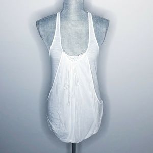 Free People Tank Top Front Tie Pouch (B15)